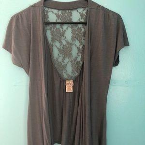 Eyelash Couture (S) Grey Shirt Vest